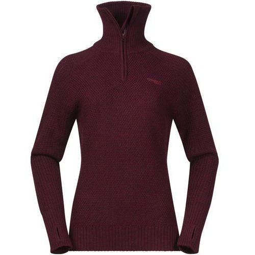 Bergans Ulriken warstwa środkowa Kobiety czerwony M 2018 Bluzy (7031581952849)