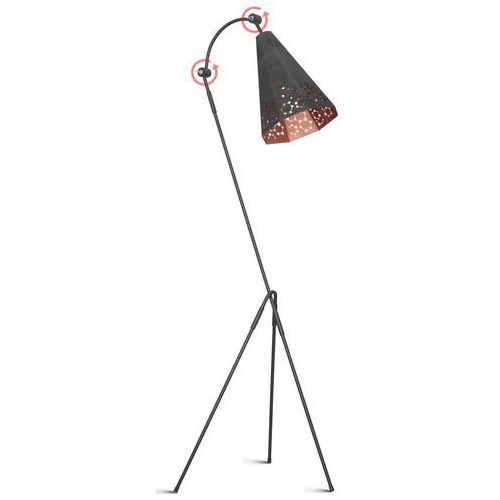 Lampa ażurowa metalowa podłogowa atom duży 1x60w white 767a/d marki Aldex