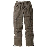 Spodnie bojówki Loose Fit Straight bonprix w kratę