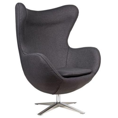 D2 7680 fotel jajo szeroki tkanina szary