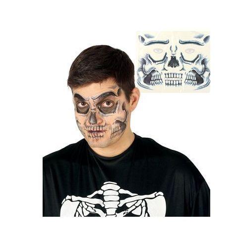 Guirca Naklejki na twarz czaszka - 1 szt. (8434077157022)