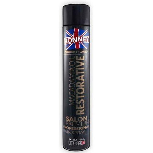 Ronney macadamia oil restorative lakier do włosów z silnym utrwaleniem (extra strong) 750 ml