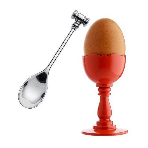 Alessi Kieliszek do jajek dressed z łyżeczką czerwony (8003299382019)