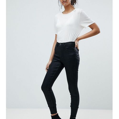 ASOS DESIGN Tall 'Sculpt me' premium jeans in black coated - Black, jeans