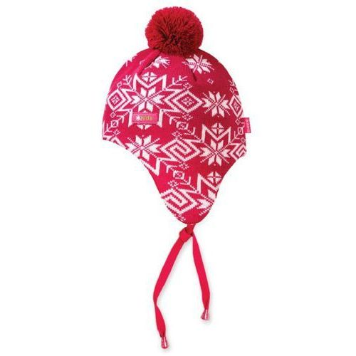 Dziecięca dziana czapka Kama BW18 - Windstopper 114 różowa