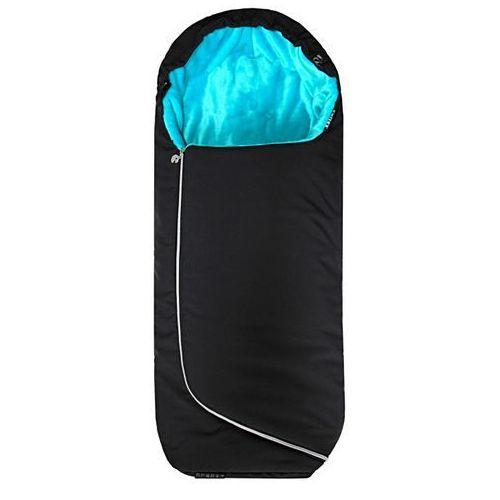 śpiworek do wózka alpino - czarny + turkusowy marki Emitex