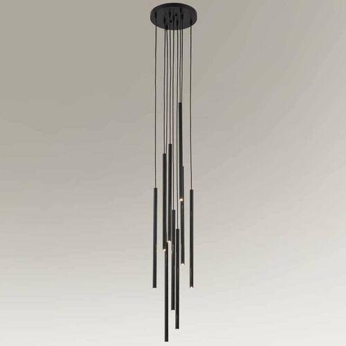Wisząca LAMPA industrialna KOSAME 7856 Shilo metalowa OPRAWA tuby ZWIS loftowy czarny, kolor biały;czarny