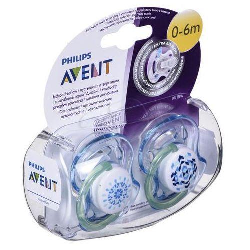 Avent 2x  niebieski smoczek sensitive fantazie (silikonowy) 0-6 miesięcy