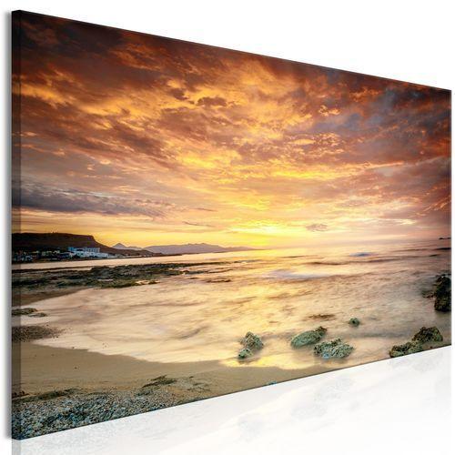 Obraz - plaża na krecie (1-częściowy) wąski pomarańczowy marki Artgeist