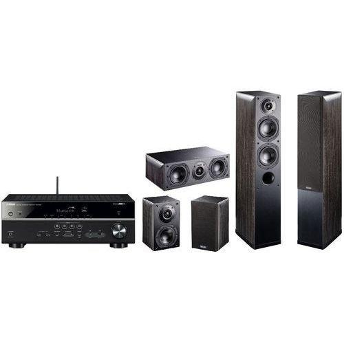 Yamaha Kino domowe rx-v485 + nota 550/740/240 czarny