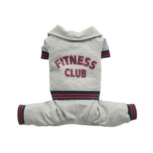 Doggy dolly dres fitness club, szary, xxl 36-38 cm/56-58 cm - darmowa dostawa od 95 zł!
