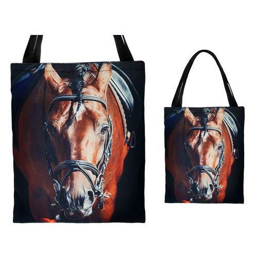 Tara Torebka torba zakupy nadruk shopper konie pysk - tz29