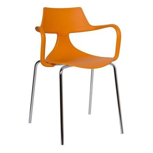 Krzesło Iron Shark Green pomarańczowe, GIRON-pomarancz
