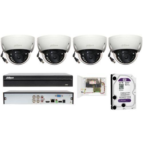 Kompletny system monitoringu firmy Dahua na 4 kamery z szerokim kątem widzenia