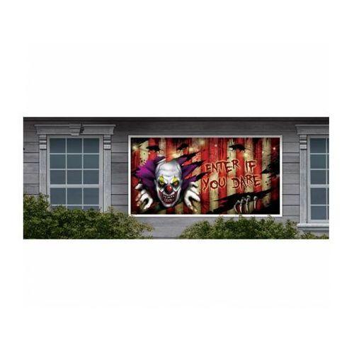 Amscan Dekoracja halloween'owa na ścianę straszny klaun - 85 x 165 cm - 1 szt.