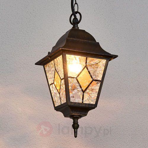 Oświetlenie brilliant Brilliant jason zewnętrzna lampa wisząca czarny, rudy, brązowy, 1-punktowy (4058383006368)