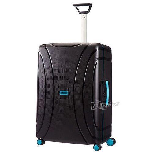 lock'n'roll średnia walizka 69 cm / czarno - niebieska - night black marki American tourister