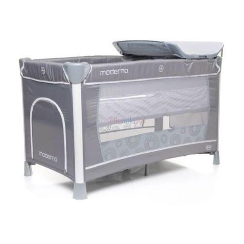 łóżeczko turystyczne dwupoziomowe moderno szare marki 4baby