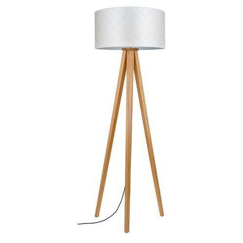Spot light mirabella 6721174 lampa podłogowa stojąca 1x60w e27 perłowy / dąb