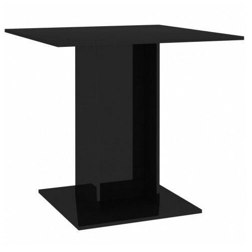 Stół z płyty meblowej marvel – czarny z połyskiem marki Elior