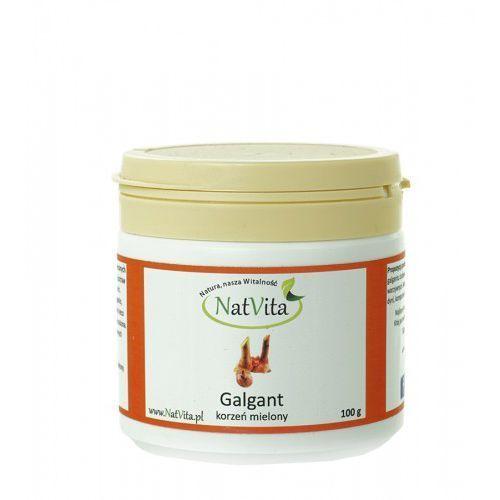 Galgant korzeń mielony zioła Świętej Hildegardy 100g NatVita (zdrowa żywność)
