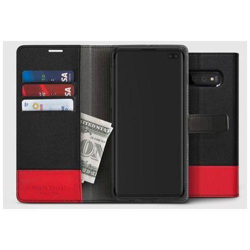 Ringke Wallet skórzany pokrowiec 2w1 portfel + etui na telefon Samsung Galaxy S10 Plus czarny ((WLSG0013-RPKG)), kolor czarny
