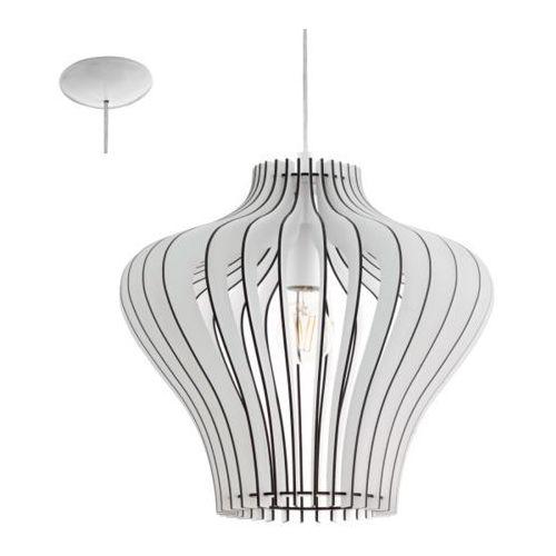 Lampa wisząca cossano biała, 95253 marki Eglo