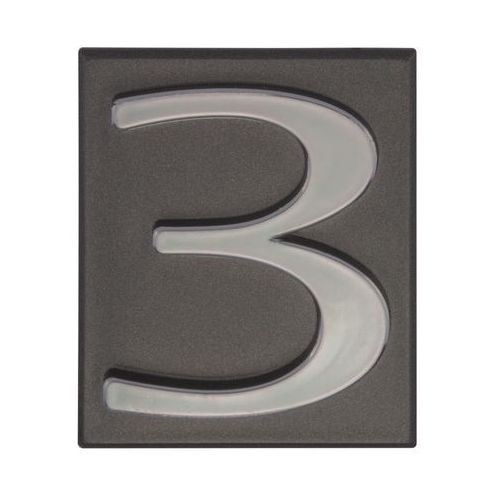 Cyfra 3 wys. 5 cm PVC grafitowa (5906681288131)
