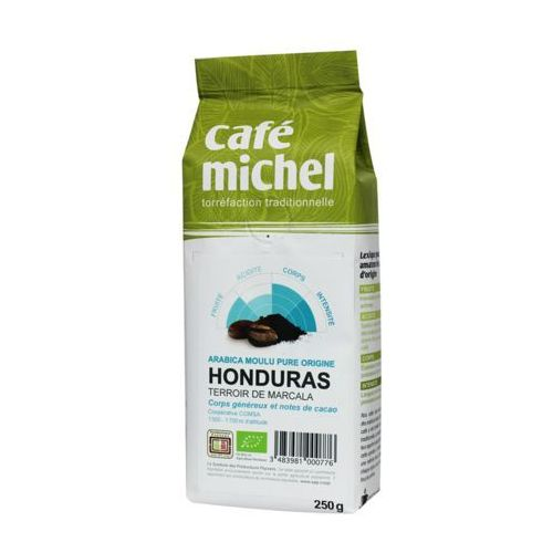 Cafe michel (kawy, kakao, czekolady do picia) Kawa mielona honduras bio 250 g - cafe michel fair trade