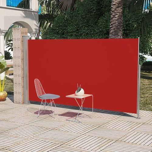 Vidaxl markiza boczna na taras, 180 x 300 cm, czerwona (8718475873259)