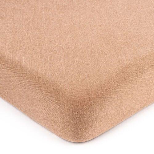 4home jersey prześcieradło jasnobrązowy, 90 x 200 cm, 90 x 200 cm (8596175008436)