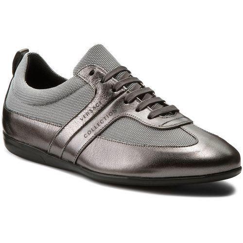 Sneakersy VERSACE COLLECTION - V900677 VM00378 V717 Grigio Scuro/Argento