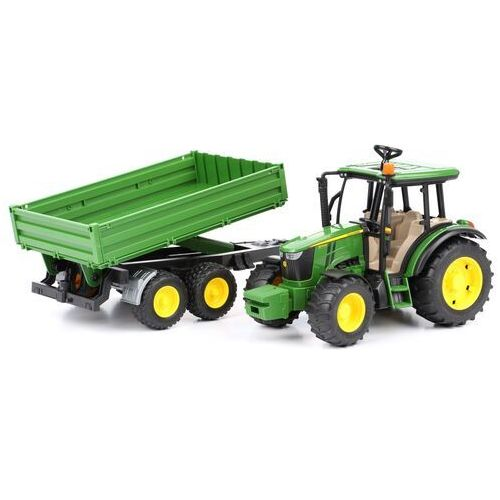 2108 traktor john deere 5115m z przyczepą marki Bruder