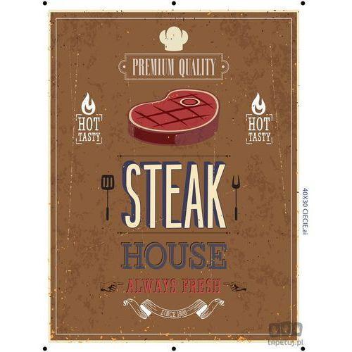 Consalnet Obraz steak house brązowy ptd070t2