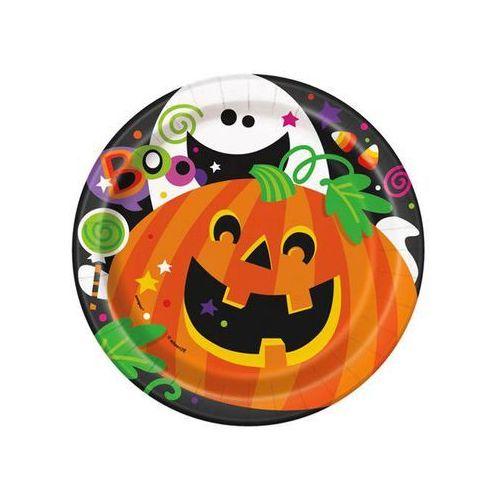 Talerzyki Happy Halloween - 18 cm - 8 szt.
