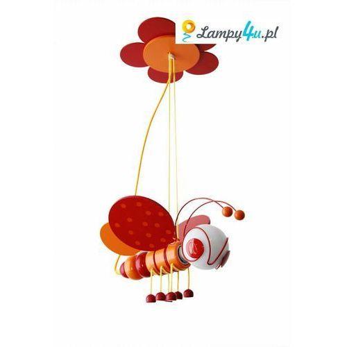 Lampa wisząca PSZCZÓŁKA 1xE27/60W/230V czerwona/ pomarańczowa - produkt z kategorii- Oświetlenie dla dzieci