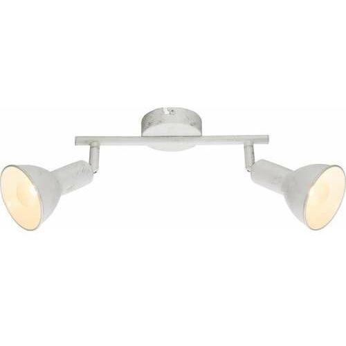 Globo Listwa caldera 54648-2 lampa sufitowa spot 2x40w e14 biały / złoty patynowany