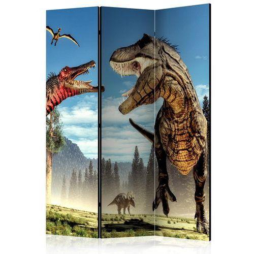 Parawan 3-częściowy - walka dinozaurów [room dividers] marki Artgeist
