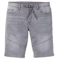 """Bermudy dresowe w optyce dżinsowych regular fit szary """"stone used, Bonprix"""