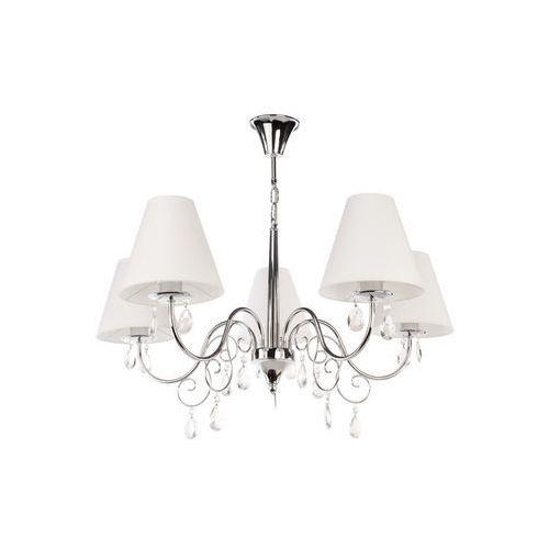 Lemir Lampa wisząca zwis velio 5x60w e27 biały/chrom o1965 ch (5902082861720)