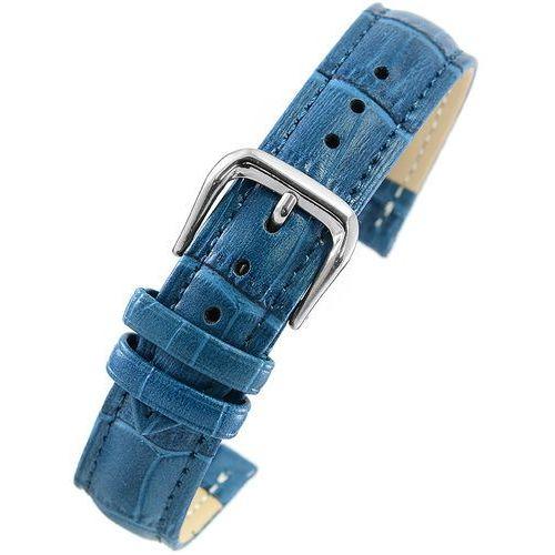 Pacific Pasek skórzany w100 do zegarka - w pudełku - niebieski- 18mm