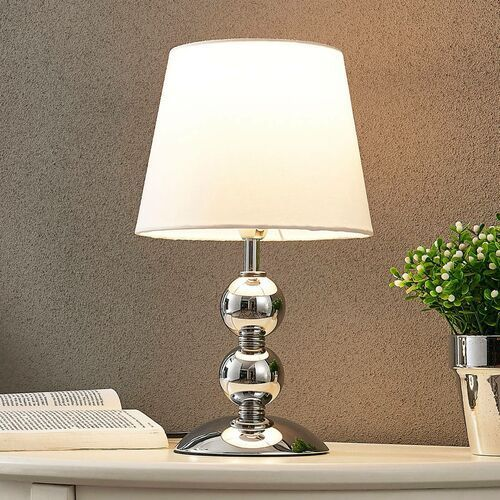 Elegancka lampa stołowa LED Minna, satynowana (4251096532586)