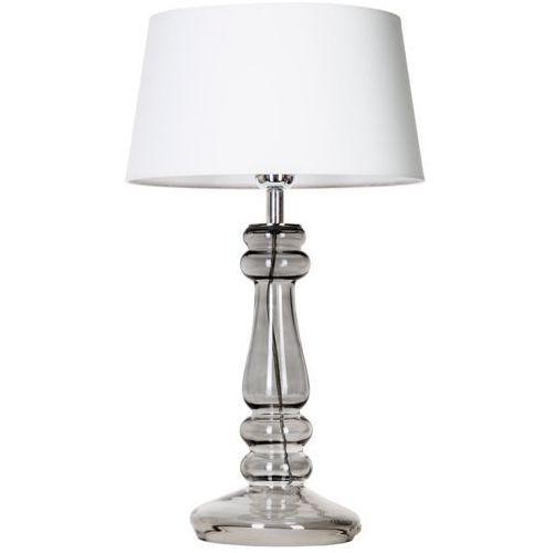 Lampa stołowa lampka 4Concepts Petit Trianon Transparent Black 1x60W E27 czarny/biały L051361249 (5901688143698)