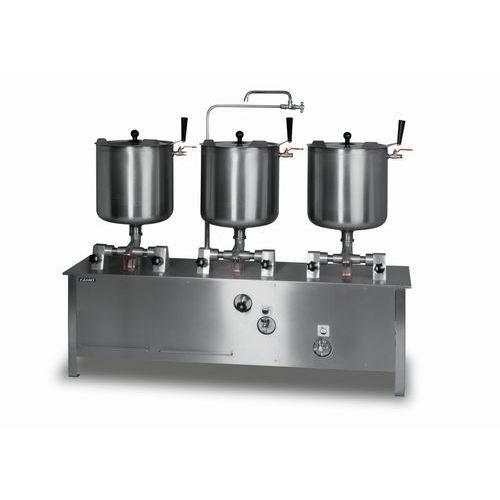 Zestaw trzech kotłów przechylnych elektrycznych 3x30 l LOZAMET ZE-6