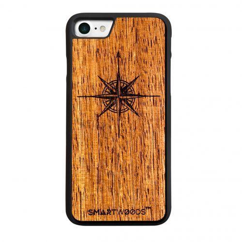 Smart woods Etui smartwoods – róża wiatrów mat iphone 7