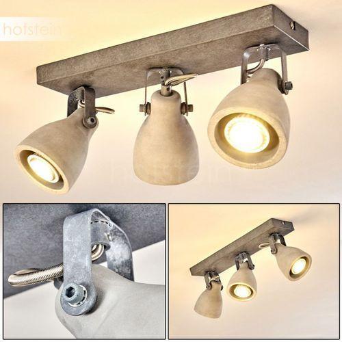 Lomma lampa sufitowa siwy, 3-punktowe - nowoczesny - - lomma - czas dostawy: od 3-6 dni roboczych marki Hofstein