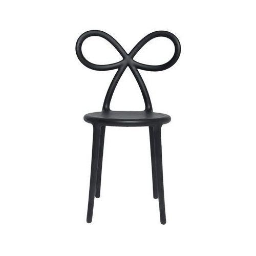 krzesło ribbon czarny mat - produkt z wadą 80001bl-os(usr00144) marki Qeeboo