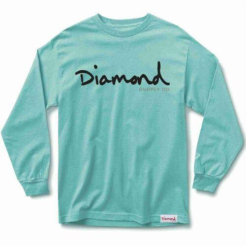 Diamond Koszulka - og script l/s tee sp18 diamond blue (dblu) rozmiar: xl