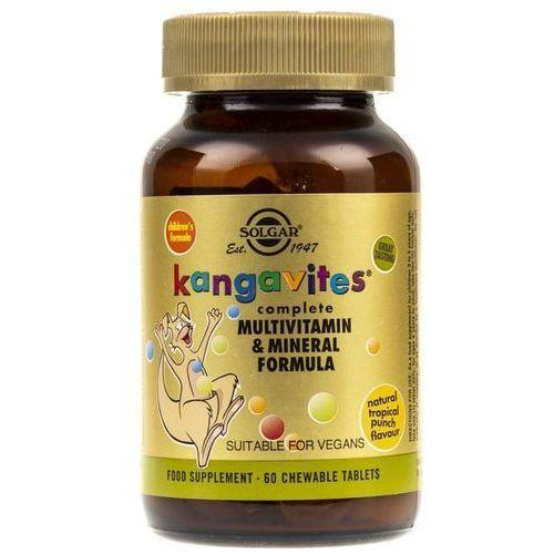 Solgar Kanguwity witaminy dla dzieci (smak tropikalny) - 60 pastylek