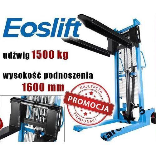 Wózek paletowy paleciak widłowy masztowy podnośnikowy eoslift hsa1516 1.5t 1500kg rozsuwane widły germany marki Maktek